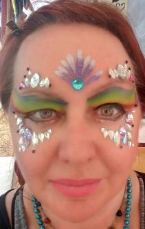 Jewel Eyes with Rainbow Paint