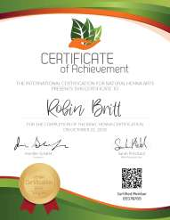 Certified Henna Artist Certificate